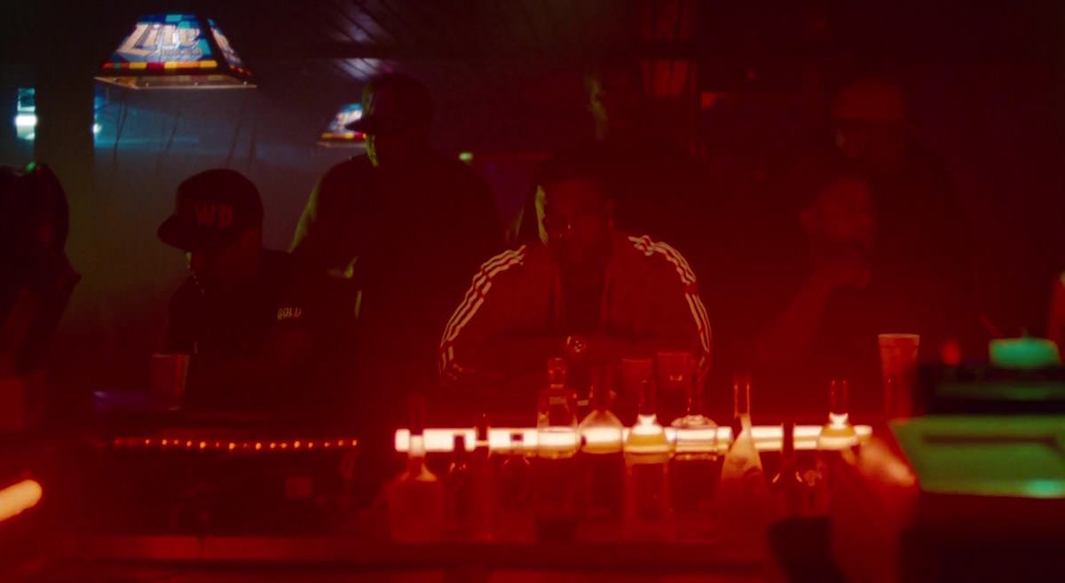 Spring Breakers Archie wears red Adi Firebird jacket by adidas originals in Club