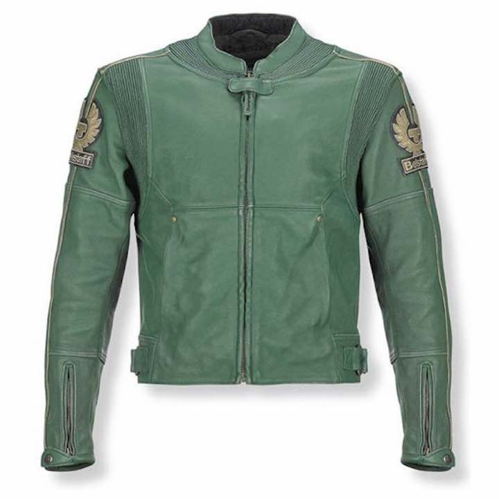 Green Motor Leather Jacket by Belstaff