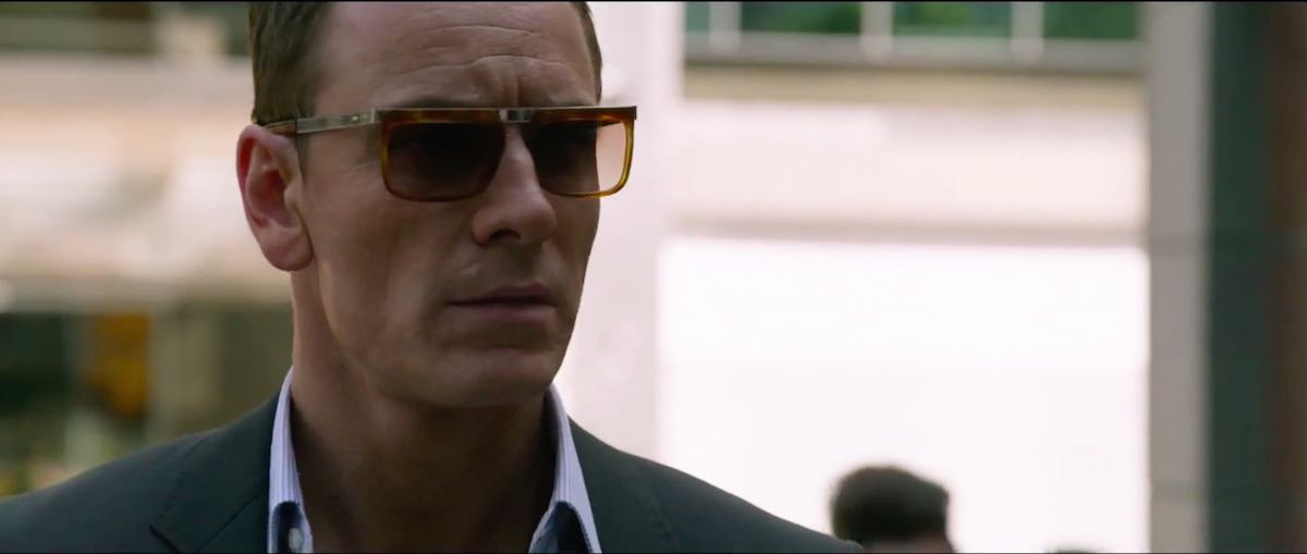The Counselor Michael Fassbender wears a beige Honey Tort 1057 Sunglasses by Cutler and Gross