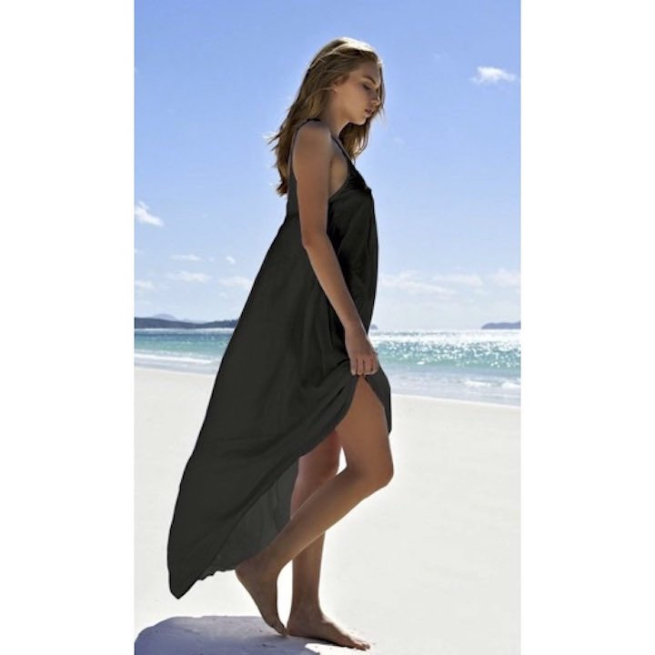 Black Driftwood Beach Dress by Mikoh Swimwear