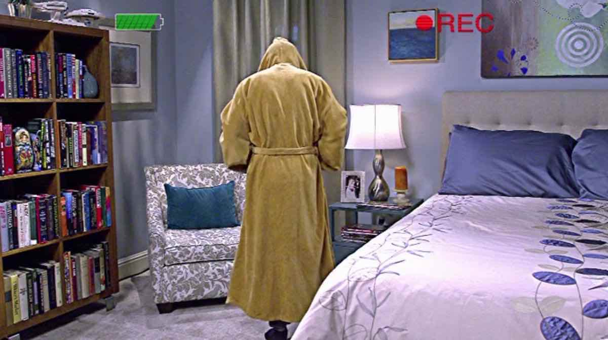 The Big Bang Theory Howard Wolowitz wears his brown hooded Jedi Order bathrobe in his apartment for his Star Wars audition in The Hesitation Ramification