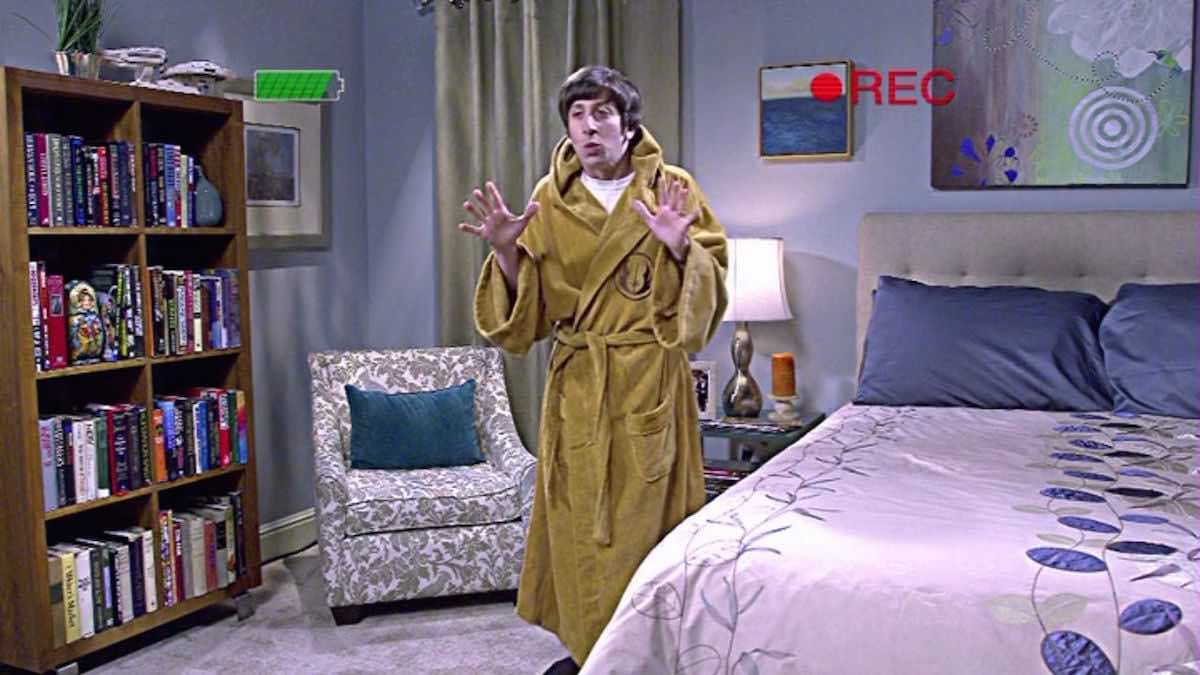 The Big Bang Theory Howard Wolowitz wears his brown hooded Jedi Order bathrobe for his Star Wars audition in The Hesitation Ramification