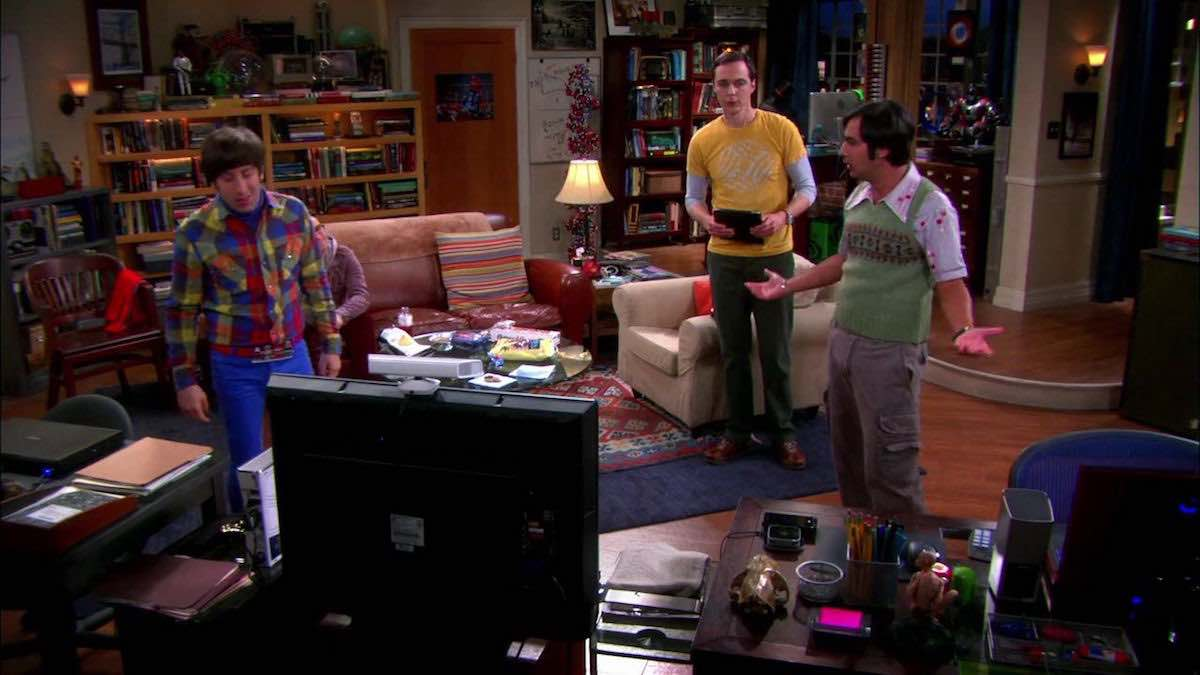 The Big Bang Theory Raj and Howard are annoyed after playing Star Wars Microsoft XBox 360 in The Extract Obliteration