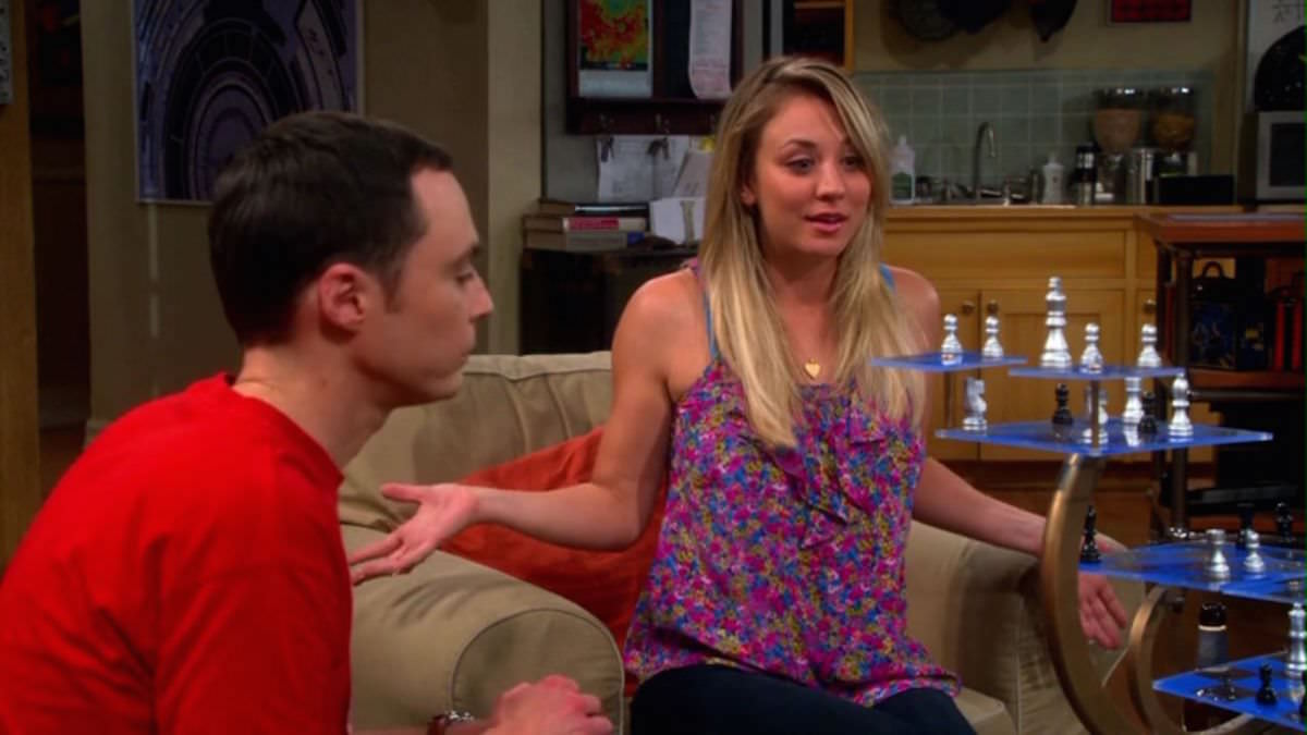 The Big Bang Theory Sheldon Cooper is playing 3D Star Trek Chess with Penny in The Hofstadter Insufficiency