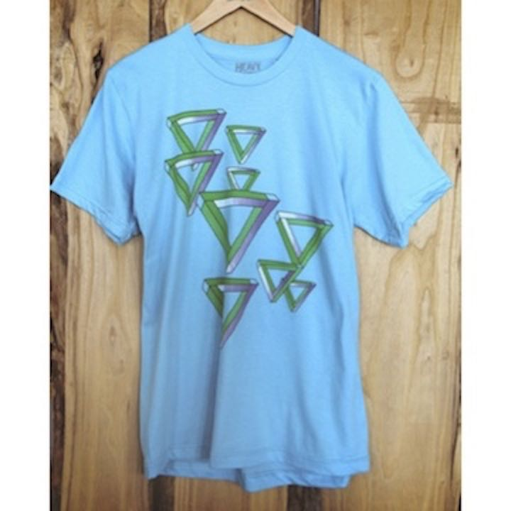 Blue Impossible Triangle T-Shirt by Heavy Rotation