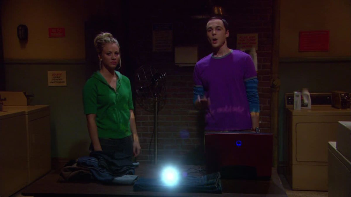 TBBT Sheldon Cooper red Alienware DELL Laptop in The Large Hadron Collision